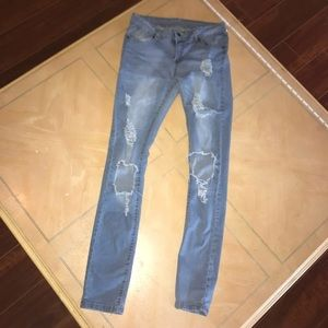 Pants - Very stretchy distressed skinny jeans